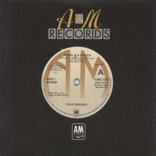 """Elkie Brooks Pearl's A Singer 7"""" vinyl single (7 inch record) UK EKB07PE567616"""
