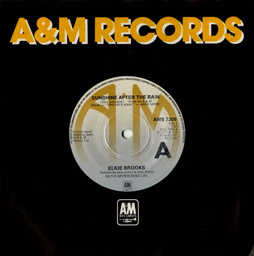 "Elkie Brooks Sunshine After The Rain 7"" vinyl single (7 inch record) UK EKB07SU574279"