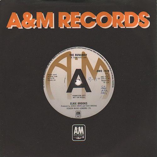 """Elkie Brooks The Runaway 7"""" vinyl single (7 inch record) UK EKB07TH636861"""