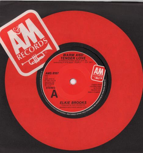 "Elkie Brooks Warm And Tender Love 7"" vinyl single (7 inch record) UK EKB07WA654342"