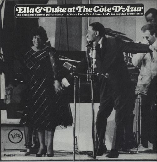 Ella Fitzgerald & Duke Ellington Ella And Duke At The Côte d'Azur vinyl LP album (LP record) US EPULPEL590765
