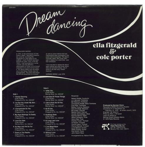 Ella Fitzgerald Dream Dancing vinyl LP album (LP record) US EFZLPDR770137
