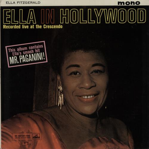 Ella Fitzgerald Ella In Hollywood Uk Vinyl Lp Album Lp