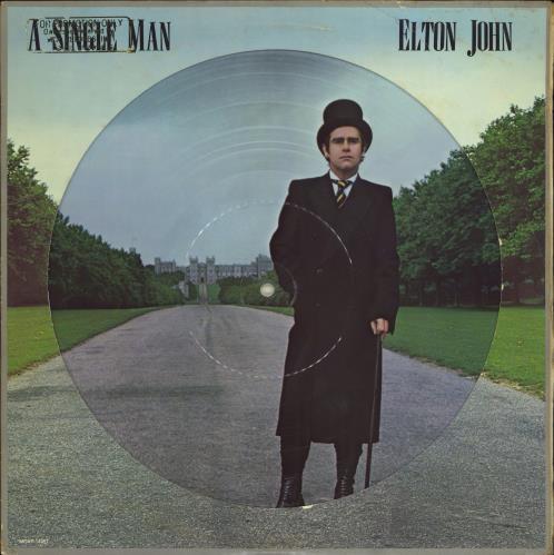 Elton John A Single Man - Gold Promo Stamped picture disc LP (vinyl picture disc album) US JOHPDAS771280