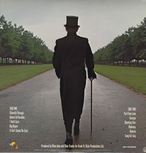 Elton John A Single Man vinyl LP album (LP record) US JOHLPAS276195