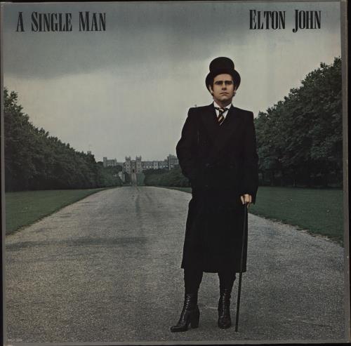 Elton John A Single Man vinyl LP album (LP record) US JOHLPAS663809