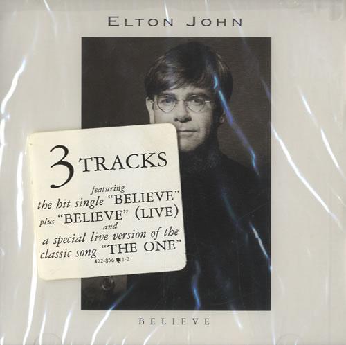 "Elton John Believe CD single (CD5 / 5"") US JOHC5BE42972"