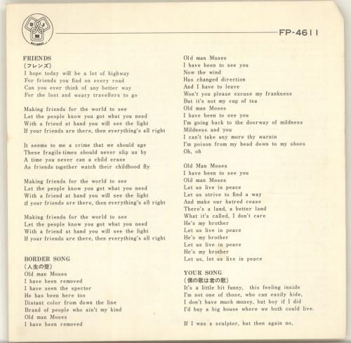 "Elton John Best 4 7"" vinyl single (7 inch record) Japanese JOH07BE119673"