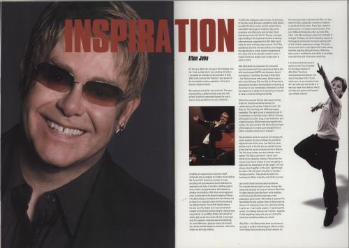 Elton John Billy Elliot tour programme UK JOHTRBI759645