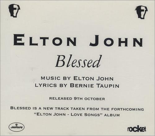 """Elton John Blessed CD single (CD5 / 5"""") UK JOHC5BL53608"""