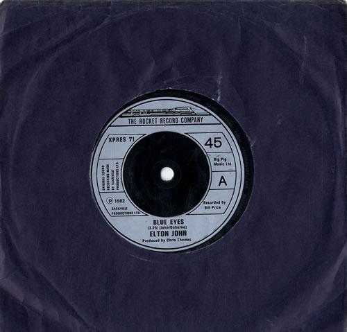"Elton John Blue Eyes 7"" vinyl single (7 inch record) UK JOH07BL603053"