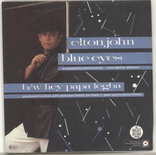 "Elton John Blue Eyes 7"" vinyl single (7 inch record) German JOH07BL701961"