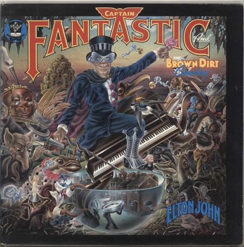 Elton John Captain Fantastic - Complete - Red - EX vinyl LP album (LP record) UK JOHLPCA687774