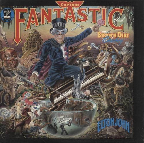 Elton John Captain Fantastic - Complete - Red vinyl LP album (LP record) UK JOHLPCA747955