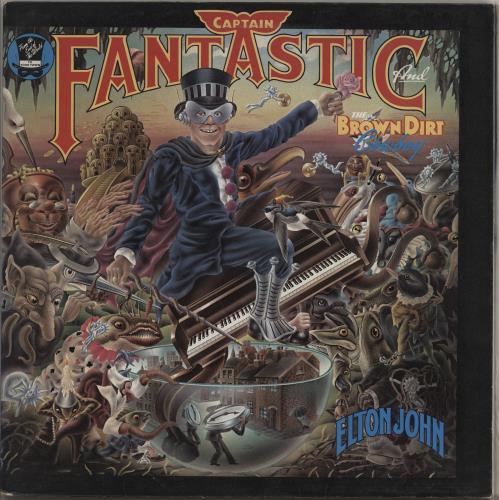 Elton John Captain Fantastic vinyl LP album (LP record) UK JOHLPCA763295