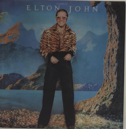 Elton John Caribou - Brown Vinyl vinyl LP album (LP record) UK JOHLPCA680071