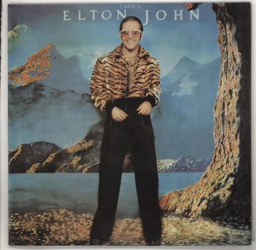 Elton John Caribou vinyl LP album (LP record) Greek JOHLPCA737066