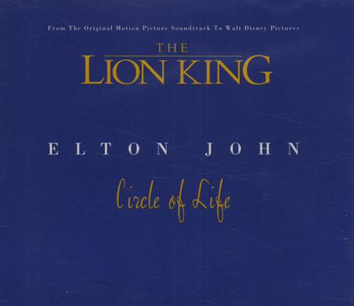 Elton John Circle Of Life Uk Promo Cd Single Cd5 5