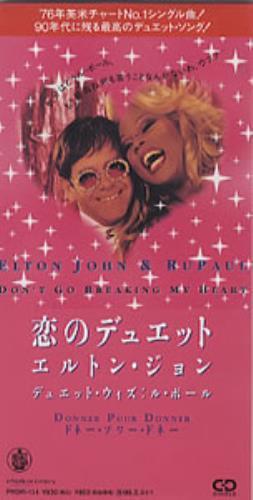 """Elton John Don't Go Breaking My Heart 3"""" CD single (CD3) Japanese JOHC3DO110213"""