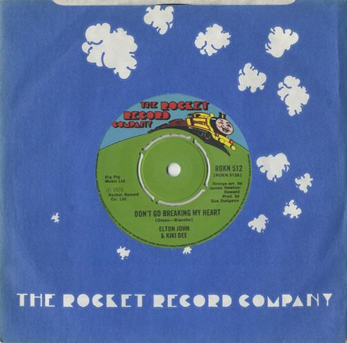 "Elton John Don't Go Breaking My Heart 7"" vinyl single (7 inch record) UK JOH07DO241284"
