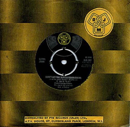 "Elton John Don't Let The Sun Go Down On Me 7"" vinyl single (7 inch record) UK JOH07DO127777"