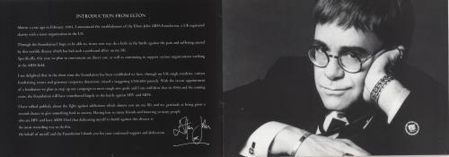 Elton John Elton John AIDS Foundation Brochure memorabilia UK JOHMMEL731917