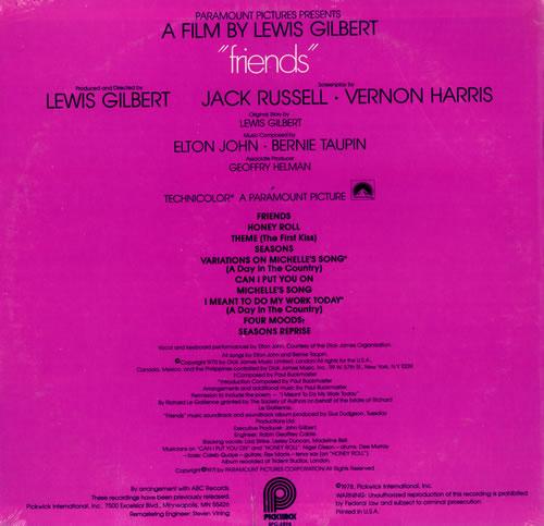 Elton John Friends Sealed Us Vinyl Lp Album Lp Record
