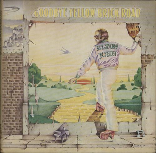 Elton John Goodbye Yellow Brick Road - 1st - Blue 2-LP vinyl record set (Double Album) UK JOH2LGO568142