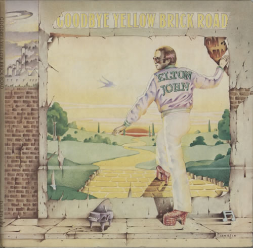 Elton John Goodbye Yellow Brick Road - 1st - Brown & Red 2-LP vinyl record set (Double Album) UK JOH2LGO617668