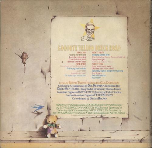 Elton John Goodbye Yellow Brick Road - 1st - Red - EX 2-LP vinyl record set (Double Album) UK JOH2LGO758825