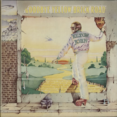 Elton John Goodbye Yellow Brick Road - 1st - Red 2-LP vinyl record set (Double Album) UK JOH2LGO601502