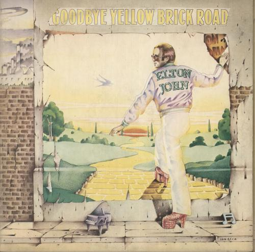 Elton John Goodbye Yellow Brick Road - Tri-fold - EX 2-LP vinyl record set (Double Album) UK JOH2LGO673680