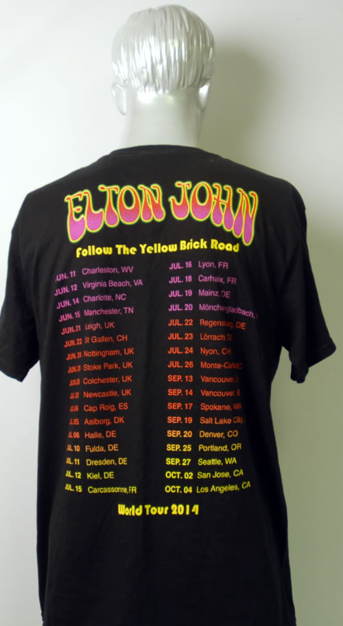 Elton John Goodbye Yellow Brick Road 1973 2014 Uk T Shirt