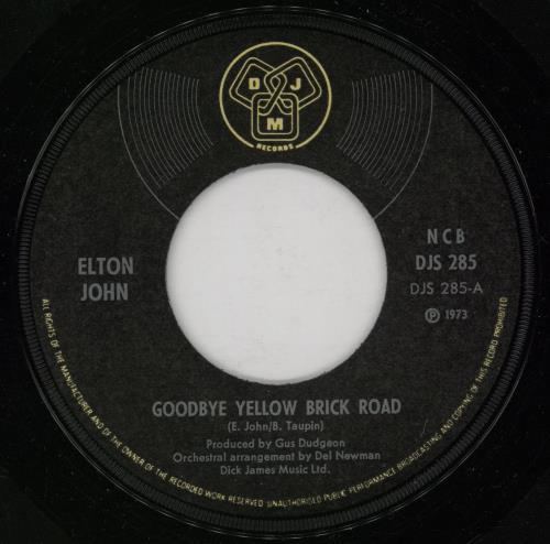 "Elton John Goodbye Yellow Brick Road 7"" vinyl single (7 inch record) Norwegian JOH07GO755257"