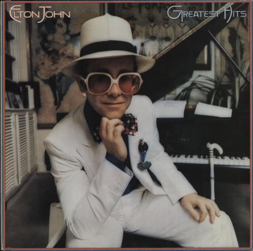Elton John Greatest Hits + Inner vinyl LP album (LP record) UK JOHLPGR420918