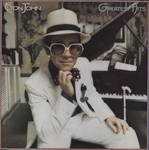 Elton John Greatest Hits - Red Vinyl vinyl LP album (LP record) UK JOHLPGR660640
