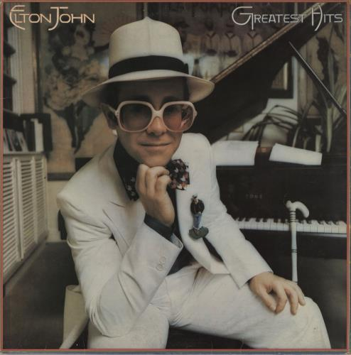 Elton John Greatest Hits - Speckled Red Vinyl - EX vinyl LP album (LP record) UK JOHLPGR758849