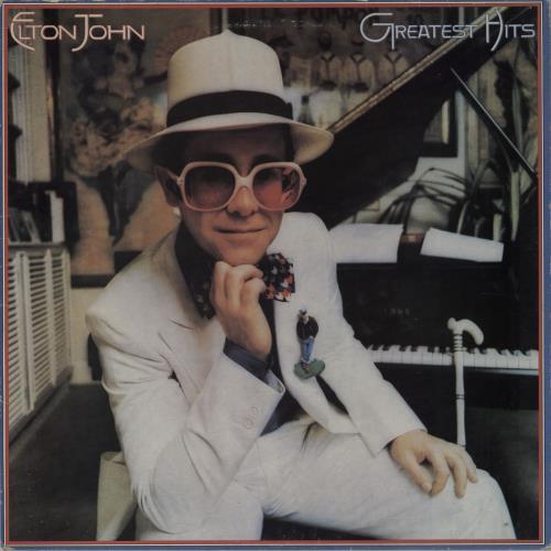 Elton John Greatest Hits vinyl LP album (LP record) UK JOHLPGR757099