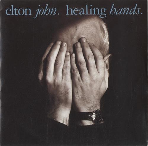 "Elton John Healing Hands - Injection label 7"" vinyl single (7 inch record) UK JOH07HE567566"