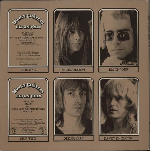 Elton John Honky Chateau - 2nd - Red Vinyl - EX vinyl LP album (LP record) UK JOHLPHO764312