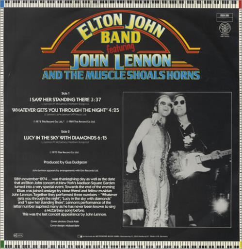 """Elton John I Saw Her Standing There 12"""" vinyl single (12 inch record / Maxi-single) German JOH12IS95785"""