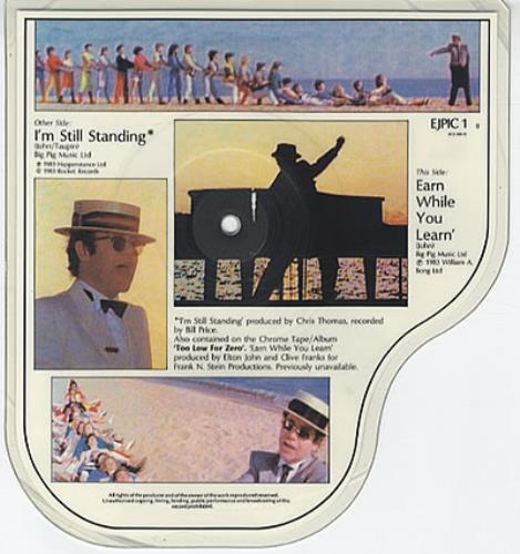 Elton John I'm Still Standing shaped picture disc (picture disc vinyl record) UK JOHSHIM12782