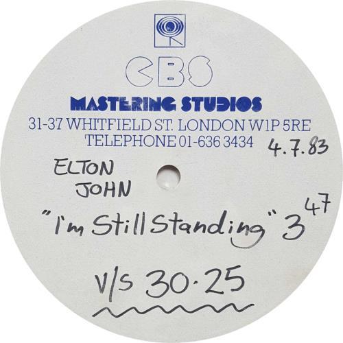 Elton John I'm Still Standing acetate UK JOHATIM701943