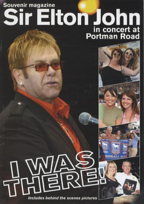Elton John In Concert At Portman Road tour programme UK JOHTRIN344398