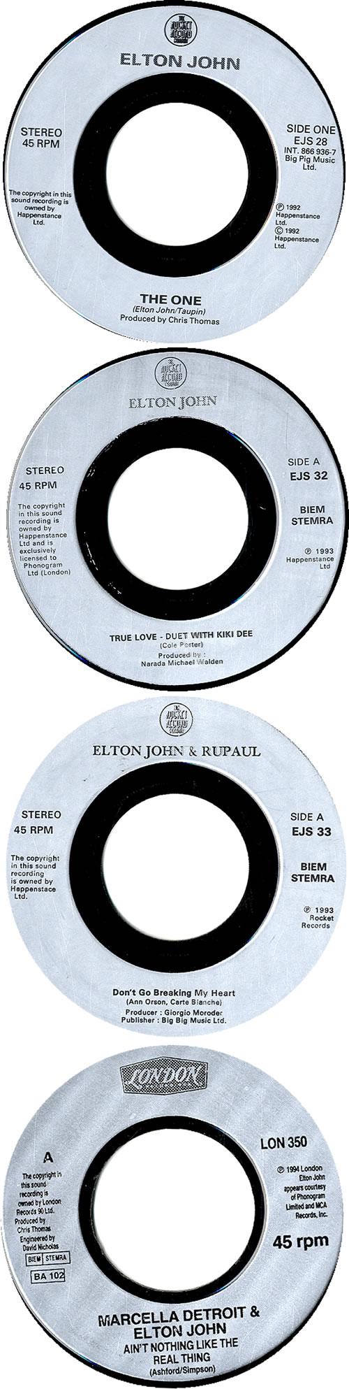 """Elton John Jukebox 7"""" Singles 7"""" vinyl single (7 inch record) UK JOH07JU632024"""