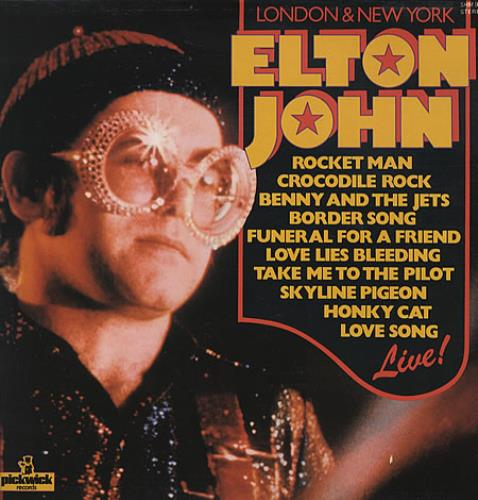 Elton John London & New York vinyl LP album (LP record) UK JOHLPLO331283