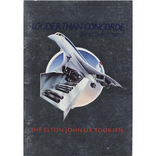 Elton John Louder Than Concorde tour programme UK JOHTRLO121791