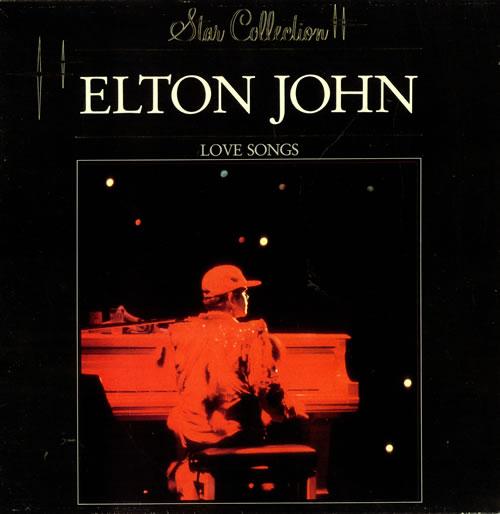 Elton John Love Songs Dutch vinyl LP album (LP record)