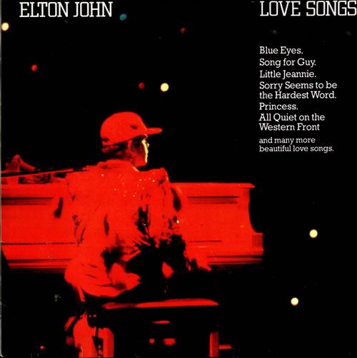 Elton John Love Songs Dutch vinyl LP album (LP record) (514952)