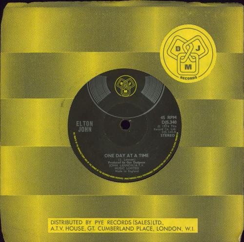 "Elton John Lucy In The Sky With Diamonds - Solid - Translucent Vinyl 7"" vinyl single (7 inch record) UK JOH07LU770402"